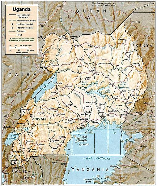 Mapas Geográficos  de Uganda