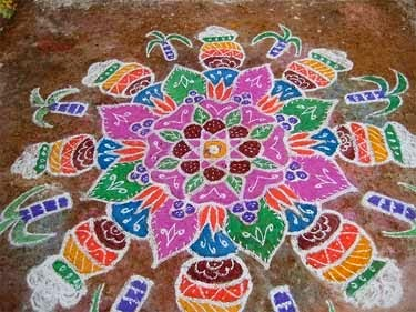 muggulu design handmade rangoli