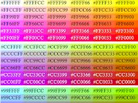 Daftar Kode warna HTML