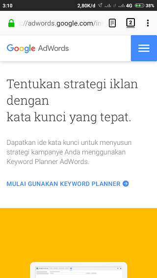 Mulai Gunakan Keyword Planner