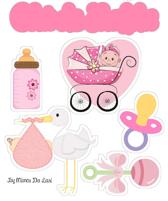 It's a Girl!: Printable Cake Toppers.