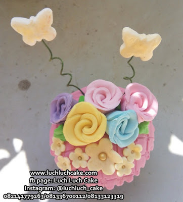 Cupcake Bunga Souvenir Wedding and Birthday