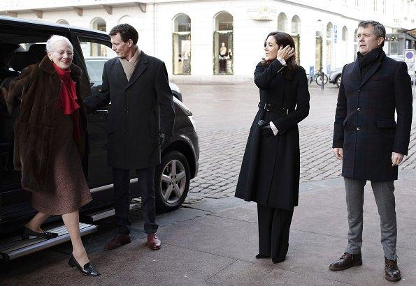 Crown Princess Mary wore Hugo Boss coat - Fall 2014 collection, Princess Marie wore Baum und Pferdgarten Damara coat