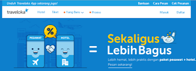 paket tiket + hotel traveloka