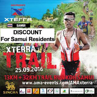 X Terra trail runs on Koh Samui 25th September