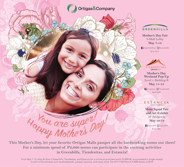 Enjoy Countless Treats this Mother's Day at Ortigas Malls