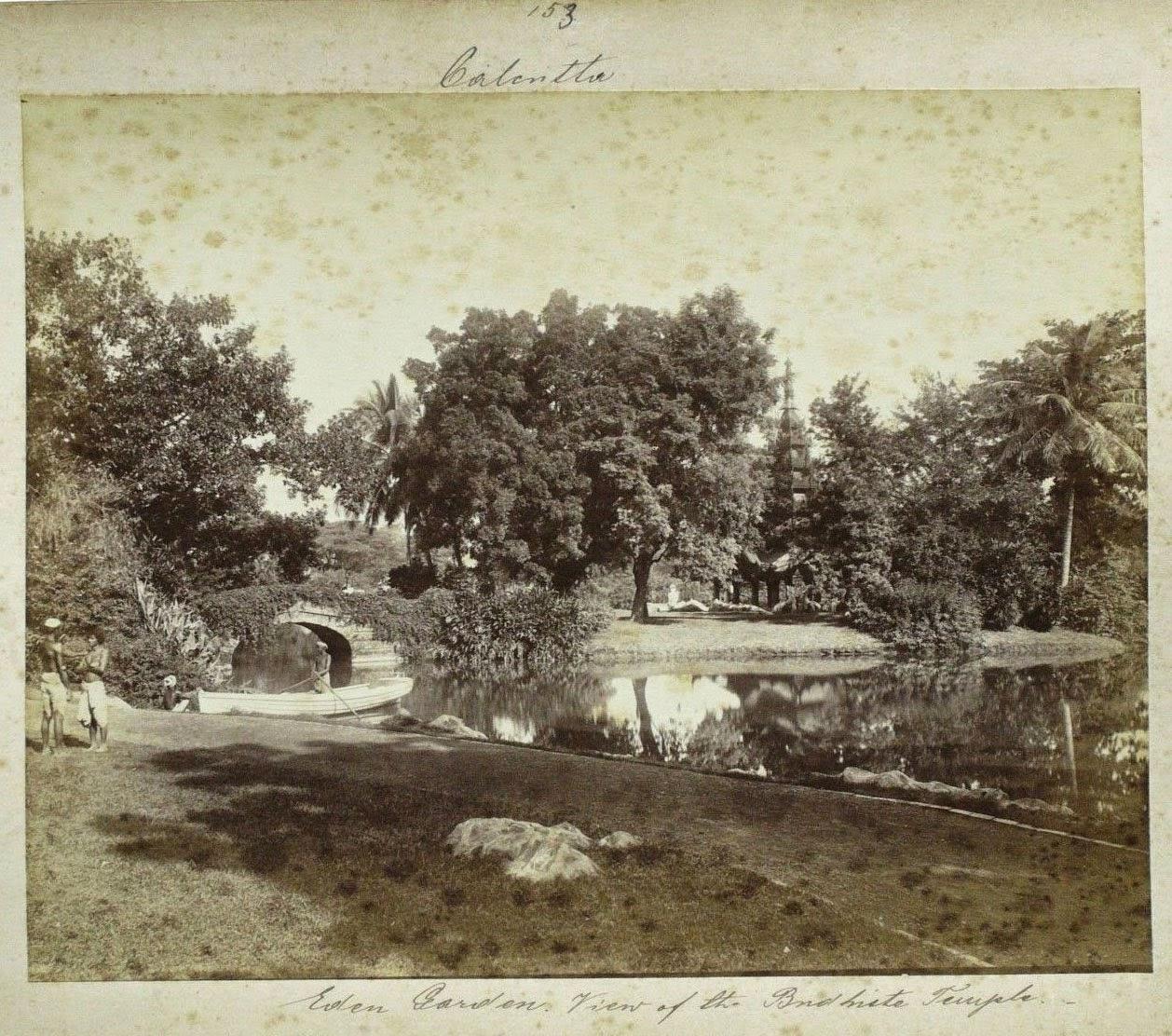 Pagoda in Eden Gardens, Calcutta (Kolkata) - c1880's