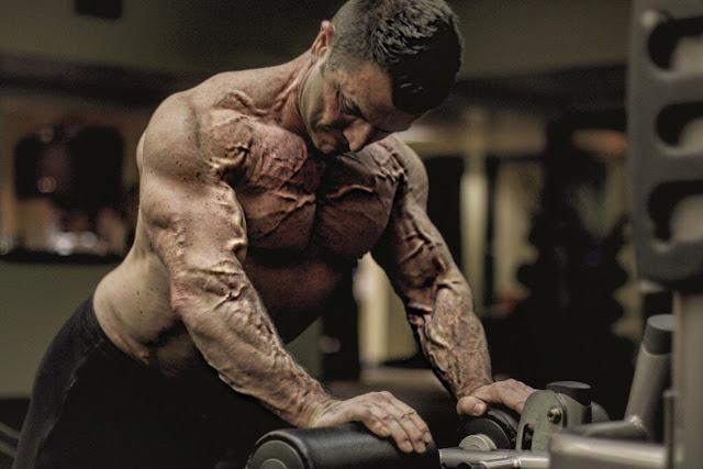 intense bodybuilding training