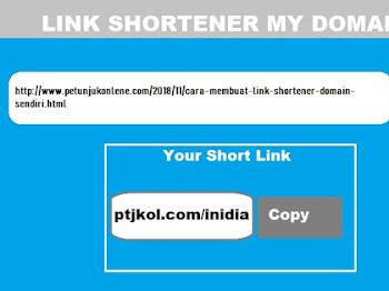 Cara Membuat Penyingkat Link (Link Shortener) dengan Domain Sendiri