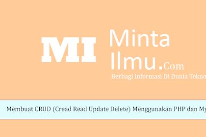 Belajar Membuat CRUD (Create Read Update Delete) Menggunakan PHP dan Mysqli #8