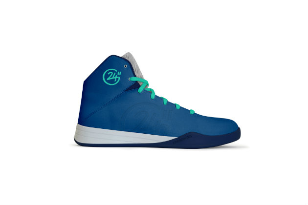 Les chaussures de basket 100% made in France en bleu