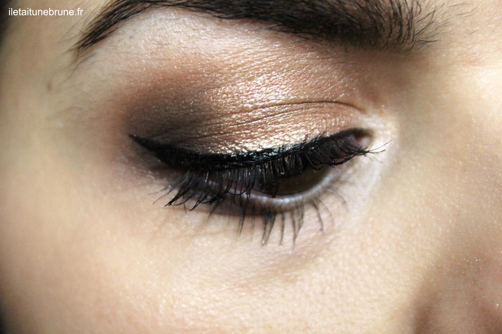 bronze and grey makeup, maquillage bronze et gris