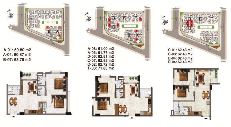Căn hộ Sơn Kỳ 1 - Các loại căn hộ