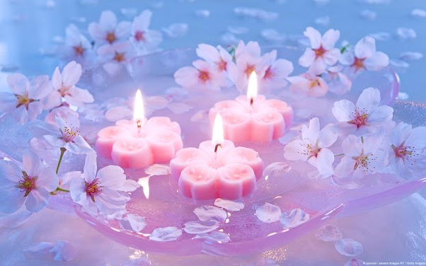 Candles and Cherry Blossoms
