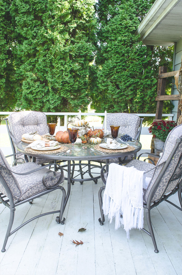 Outdoor Fall Tablescape Anderson Grant