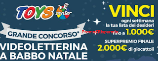 Logo Con Toys vinci gratis fino a 2.000 euro in giocattoli