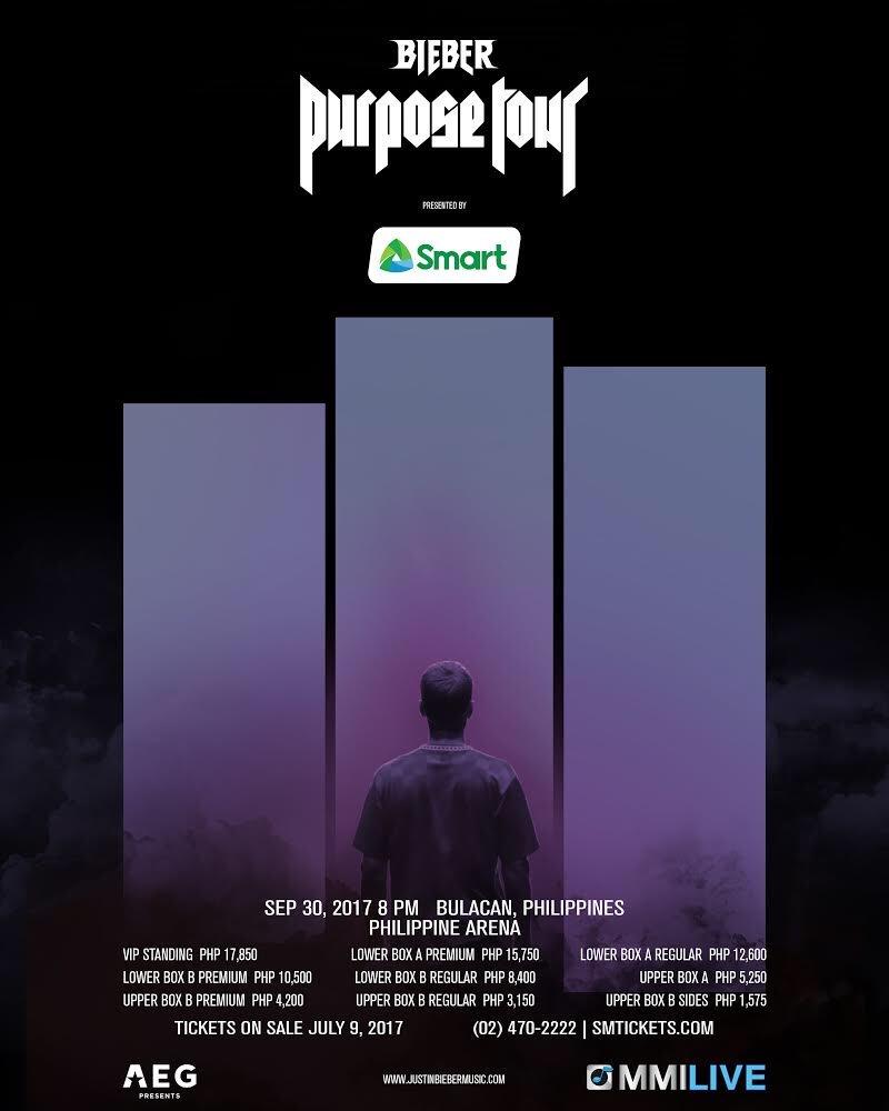 Justin Bieber Bulacan concert tickets