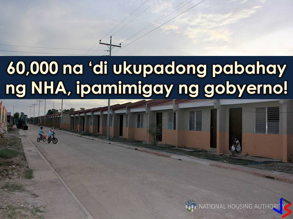 According to the National Housing Authority (NHA), there are 68, 863 housing units that are already completed as of July 31, 2017. Out of this numbers, only 8, 837 are occupied which means there are around 60,000 housing units up for grabs!  This is the reason why President Rodrigo Duterte signed a joint resolution with the Congress to award unoccupied housing units. These housing units are being built for policemen, soldiers, and other uniformed personnel. But with the resolution, these houses may fall into the hands of other qualified beneficiaries. Under Joint Resolution No. 2 that was signed on May 9, unoccupied housing units will go to other qualified beneficiaries who are in need of shelter. Who are the other qualified beneficiaries? 1. Low-salaried government employees or 2. Public school teachers 3. Employees of the city or municipality that has jurisdiction over the housing project 4. Barangay Officials and employees 5. Informal settlers in the area where the project is located 6. Underprivileged and homeless families in urban centers 7. Those displaced by government infrastructure projects, among others  The resolution also states that the following housing units shall be awarded to qualified beneficiaries 1.Unawarded housing units 2. Awarded housings that are not yet occupied 3. Awarded units but ownership and possession are surrendered by their respective awardees in favor of another housing project 4. Housing units whose respective awards were canceled due to their owners' failure to pay amortization or violation of terms and conditions of the loan agreement  With the plan, the NHA Board was also tasked to formulate the rules and regulation for the awarding of housing units. According to the Department of Budget and Management, P20.779 billion was released for the said housing project as of March 31, 2017.