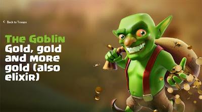 Informasi detail, data lengkap, strategi dan biaya upgrade goblin di COC