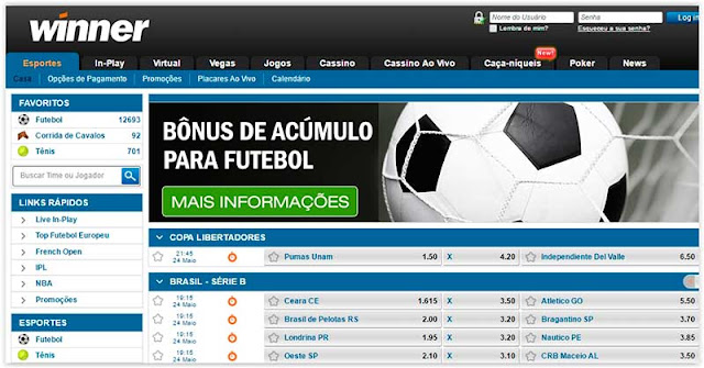 Winner - Nova Opção para Apostar em Jogos de Futebol