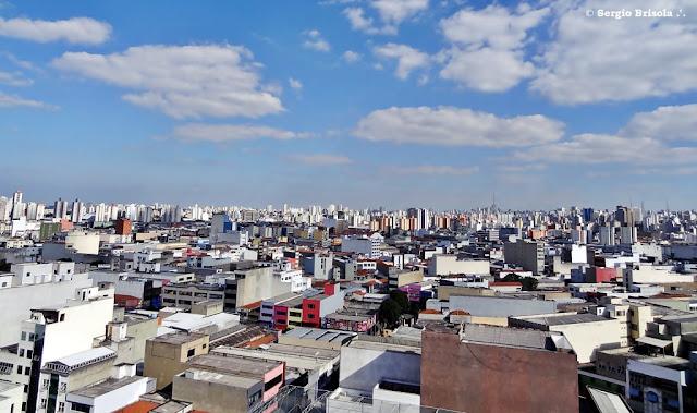 Panorâmica de parte do Bairro do Brás com o Pari ao fundo - São Paulo