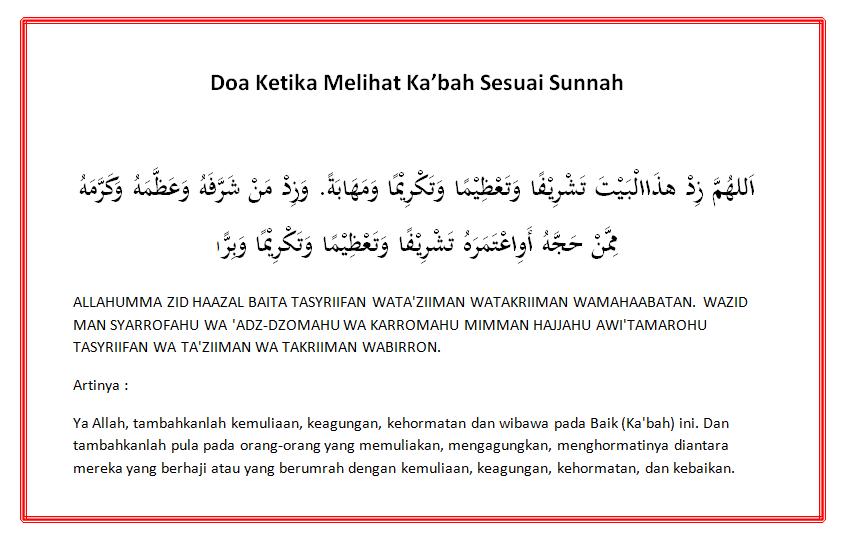 Doa Ketika Melihat Ka'bah Sesuai Sunnah