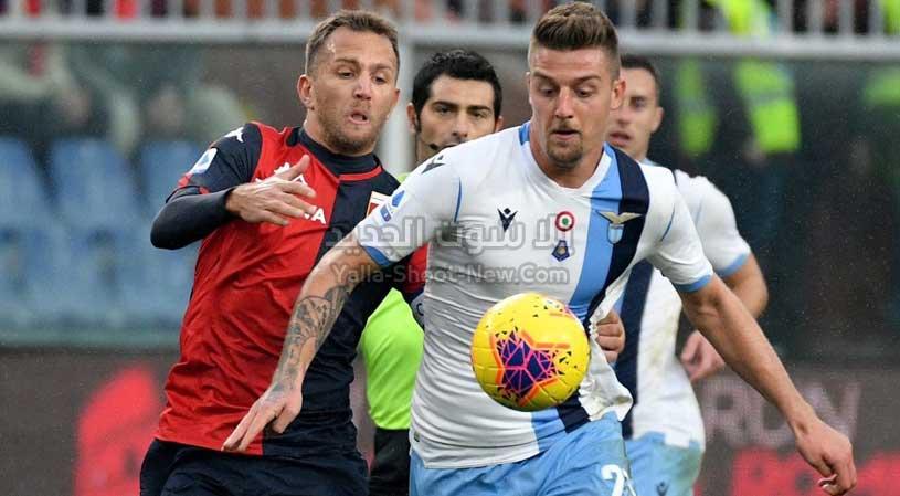 لاتسيو يفوز على جنوى بثلاثنية ويعزز مركزه الثاني الدوري الايطالي
