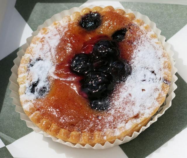 Baker D Chirico, Carlton, blueberry frangipane tart