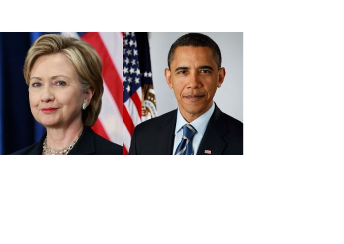 Mrs. Hilary Clinton & Barack Obama