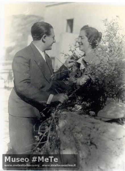 I coniugi Basile nella tenuta di Monterosso