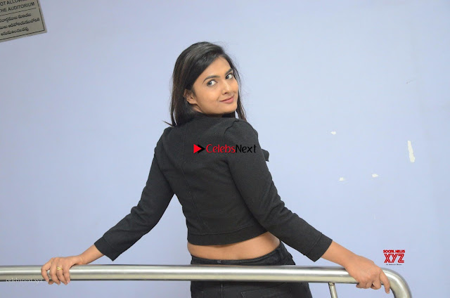 Neha Deshpandey in Black Jeans and Crop Top Cute Pics Must see ~  Exclusive Galleries 001.jpg