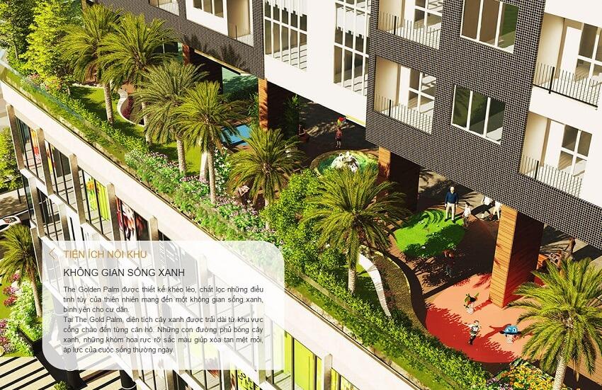 Không gian sống xanh tại The Golden Palm