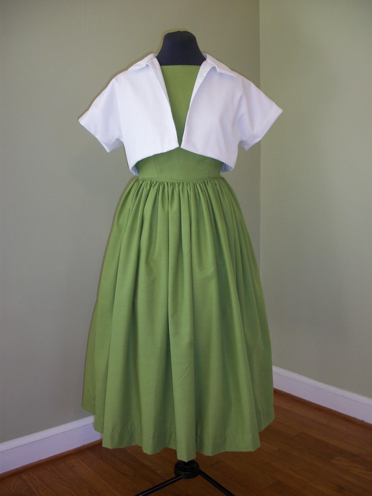 Retrospect Green Sundress Amp Bolero Jacket