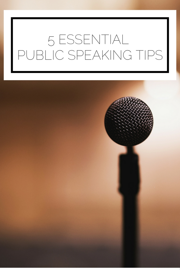 Click to read now or pin to save for later! Does public speaking make you break out in a cold sweat? Here are 5 essential public speaking tips to help you give your next presentation flawlessly