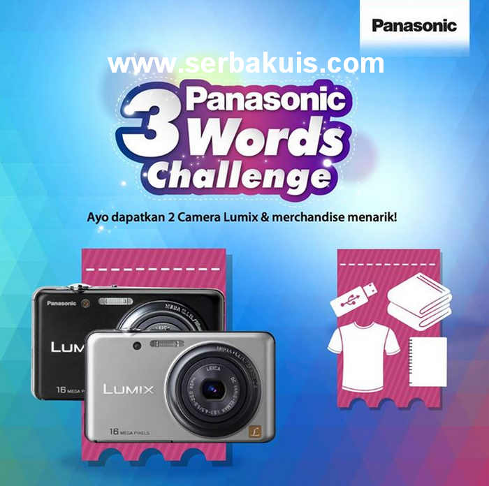 Kuis 3 Words Challenge Berhadiah Kamera Pocket dan Merchandise