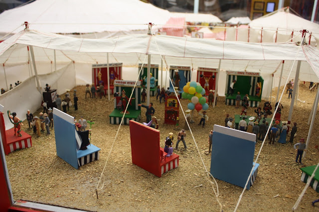 The side show tent in the circus diorama at French Lick West Baden Museum