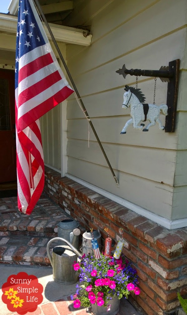 flag decorating ideas, fourth of july