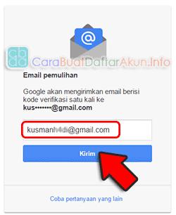 cara mengganti password gmail karena lupa