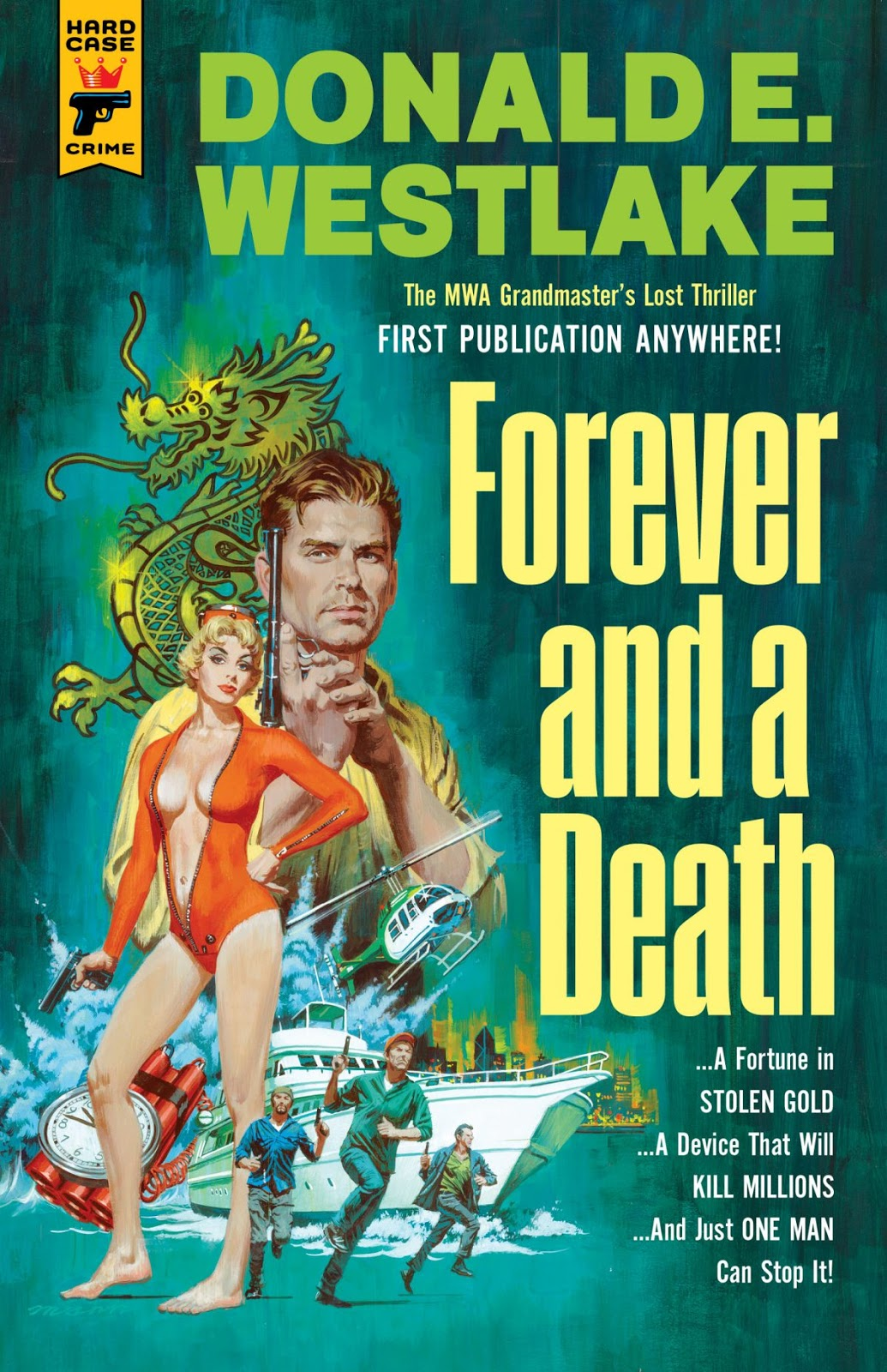 Forever And A Death By Donald E Westlake Hard Case Crime Cover Painting For The Novel Paul Mann