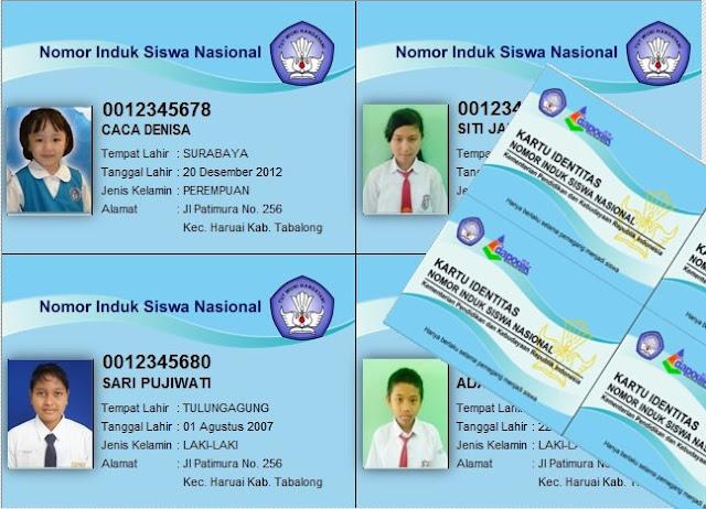 Cetak Kartu NISN dengan Tampilan Modern Berbasis Dapodik