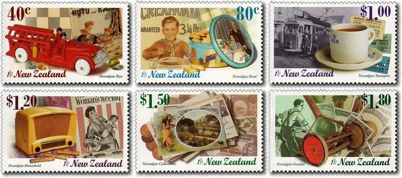Virtual New Zealand Stamps: 1999 Millennium IV - Nostalgia