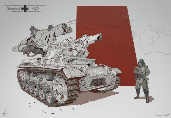 Michal Kus artstation ilustrações artes conceituais ficção científica games tanques guerra aviões mechas