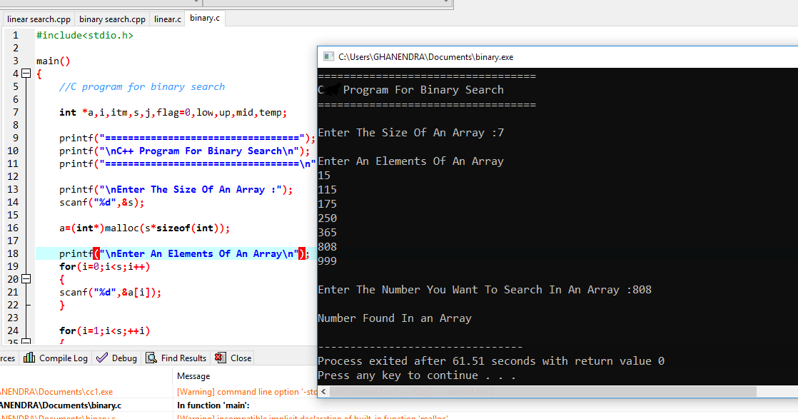 Write a c program for binary search using recursion how to write happy birthday in every language