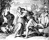 Jacob finds Rachel daughter of Laban his uncle. Genesis 29: 9-14