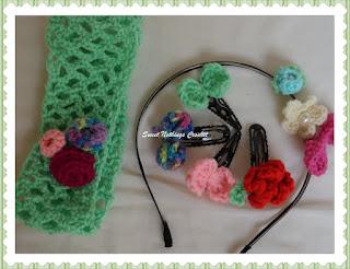 crochet headband, crochet tic tac, crochet headwear