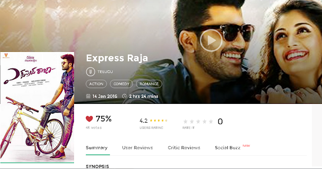 Express Raja 2016 Telugu Movie Full 300mb and 700mb