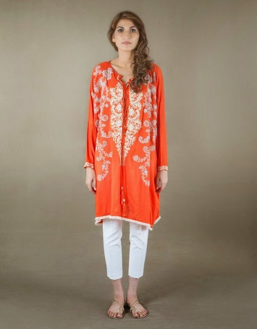 Ayesha Hashwani Winter Dresses Designs 2014-2015fashionwearstyle.com