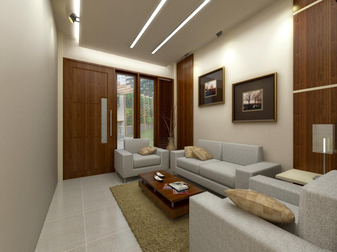 Gambar Desain Interior Ruang Tamu Rumah Minimalis Type 45 Terbaru