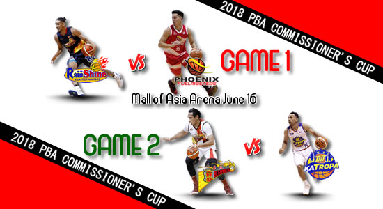 List of PBA Games: June 16 at MOA Arena 2018 PBA Commissioner's Cup