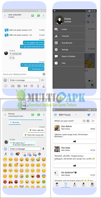 BBM Mod Like iOS Theme Apk